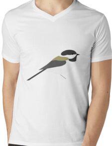 Chickadee Mens V-Neck T-Shirt