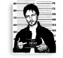 Wanted: McAvoy Canvas Print