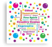 Creative Genius Canvas Print