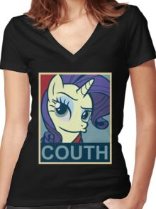 Brony - Couth Women's Fitted V-Neck T-Shirt