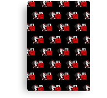 It's Game Time - Baseball (Red) Pattern 2 Canvas Print