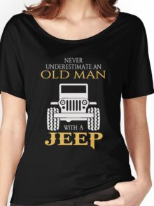An old man with a jeep T-shirt Women's Relaxed Fit T-Shirt