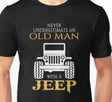 An old man with a jeep T-shirt Unisex T-Shirt