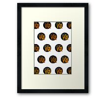 It's Game Time - Yellow (Pattern 1) Framed Print