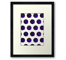 It's Game Time - Purple (Pattern 1) Framed Print