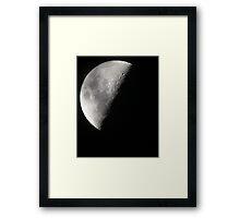 Light Side of the Moon Framed Print