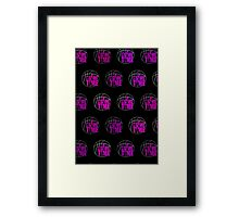 It's Game Time - Pink (Pattern 2) Framed Print