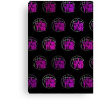 It's Game Time - Pink (Pattern 2) Canvas Print