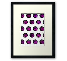 It's Game Time - Pink (Pattern 1) Framed Print