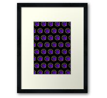 It's Game Time - Purple & Gold (Pattern 2) Framed Print
