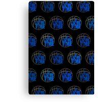 It's Game Time - Blue (Pattern 2) Canvas Print