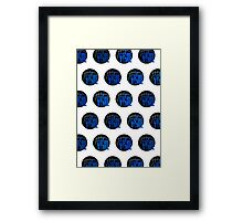 It's Game Time - Blue (Pattern) Framed Print