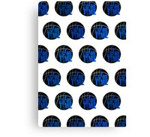 It's Game Time - Blue (Pattern) Canvas Print