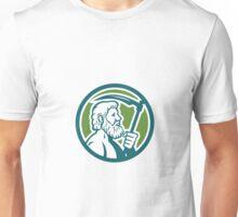Cronus Holding Scythe Circle Retro Unisex T-Shirt