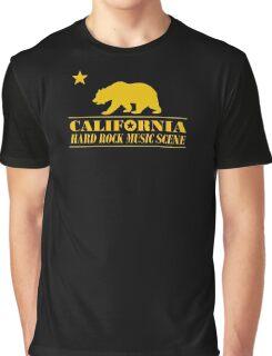 California Hard Rock Music Graphic T-Shirt
