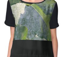 LEAVES IN LIGHT AND SHADOW Chiffon Top