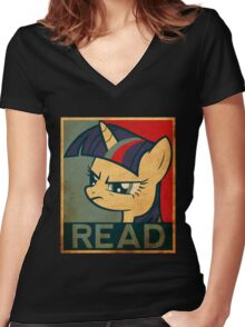 Brony - Read Women's Fitted V-Neck T-Shirt