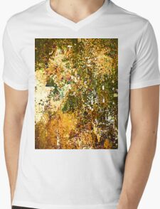 EXPLODING PUMPKIN (Painted Pixels) Mens V-Neck T-Shirt