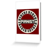 Vintage Pianist Ring Greeting Card
