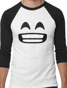 Emoji Big White Smile Men's Baseball ¾ T-Shirt