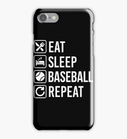 Baseball Eat Sleep Repeat iPhone Case/Skin