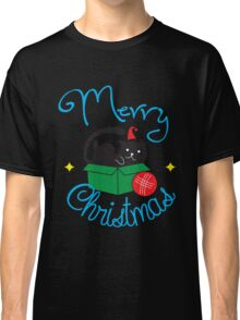 Merry Christmas - Cute Cat Ball Yarn Holiday  Classic T-Shirt