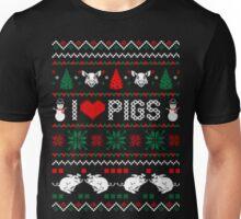 I love pigs ugly christmas sweater xmas Unisex T-Shirt