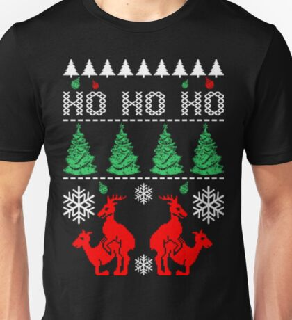 Ho ho ho ugly sweater reindeer christmas Unisex T-Shirt
