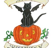 """Pirate-Bat-Cat"" by BlackRibbonSoc"