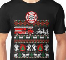 Firefighter christmas sweater ugly Unisex T-Shirt