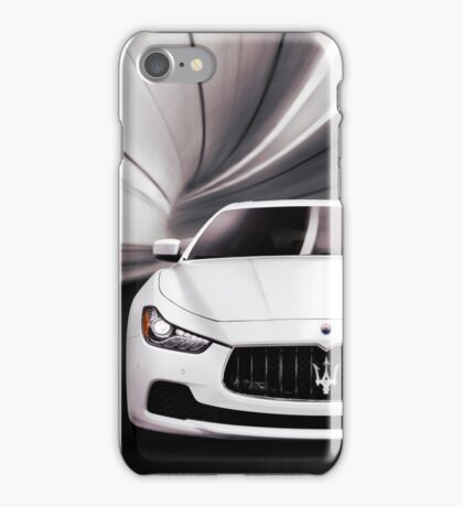 Maserati Ghibli S Q4 luxury car in a tunnel art photo print iPhone Case/Skin