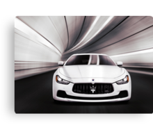 Maserati Ghibli S Q4 luxury car in a tunnel art photo print Canvas Print