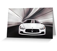 Maserati Ghibli S Q4 luxury car in a tunnel art photo print Greeting Card