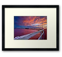 Sunset: Derby-style Framed Print