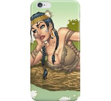 Native American Indian Pinup Girl by Al Rio iPhone Case/Skin