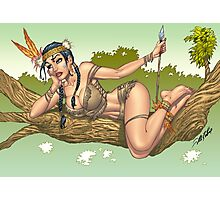 Native American Indian Pinup Girl by Al Rio Photographic Print