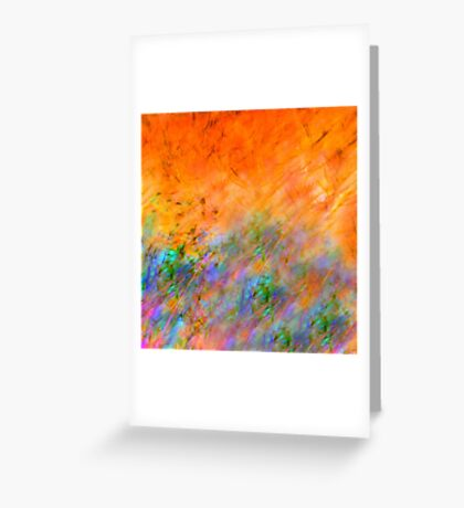 Orange Dreamscape Abstract Greeting Card