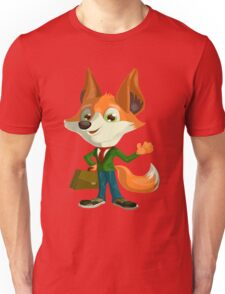 Funny Mr. Fox Vector Graphic Animinated Print Unisex T-Shirt