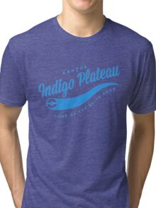 Indigo Plateau Baseball 3 Tri-blend T-Shirt