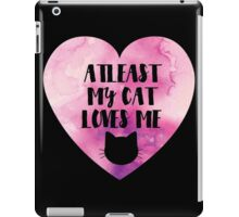 Funny Cat Love Valentines Day   Pink Watercolour iPad Case/Skin