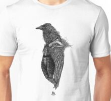 Girl and Raven Unisex T-Shirt