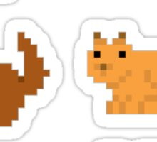 Forest animals pixel sticker set Sticker