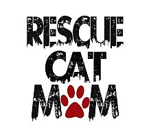 Rescue Cat Mom Photographic Print