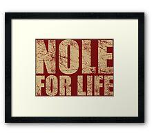 Nole for Life Framed Print
