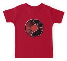 Music Vinyl Record Explosion Comic Style Kids Tee