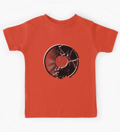 Music Vinyl Record Explosion Comic Style Kids Tee