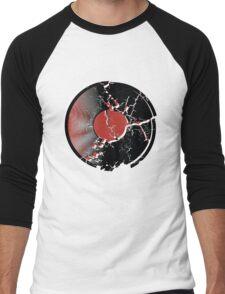 Music Vinyl Record Explosion Comic Style Men's Baseball ¾ T-Shirt