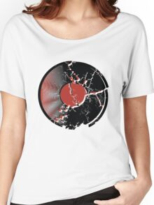 Music Vinyl Record Explosion Comic Style Women's Relaxed Fit T-Shirt