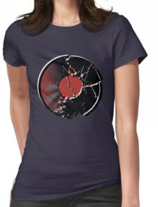 Music Vinyl Record Explosion Comic Style Womens Fitted T-Shirt