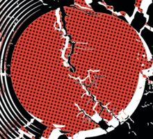 Music Vinyl Record Explosion Comic Style Sticker